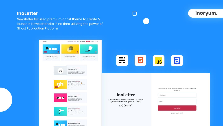 [New Release] InoLetter - Newsletter Focused Ghost theme